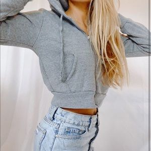 Brandy Christy Cropped Hoodie